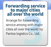 Forwarding service to major cities all over the world