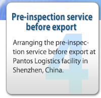 Pre-inspection service before export 
